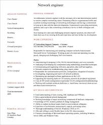Network Engineer Resume Inspiration 28 Sample Network Engineer Resume Templates To Download Sample