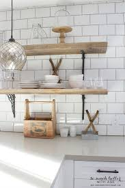 rustic industrial kitchen shelves so much better with age intended for open wooden decorations 10