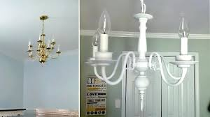 spray paint chandelier how to spray paint a chandelier spray paint brass chandelier before after