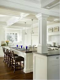 20 Beautiful Kitchen Island Designs With Columns