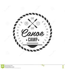 Emblem Design Canoe Camp Emblem Design Illustration 74173897 Megapixl