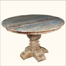 rustic round pedestal dining table room ideas