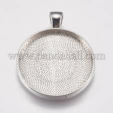 metal alloy pendant cabochon settings palloy a15648 n nf 1