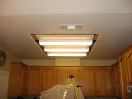 Kitchen Fluorescent Light Fixtures Fluorescent Lighting Replace Fluorescent Light Fixture With Led