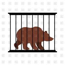 zoo animals in cages clipart. Contemporary Zoo Bear In Cage Animal Zoo Behind Bars Vector Image U2013 Artwork Of  Click To Zoom And Animals In Cages Clipart Y