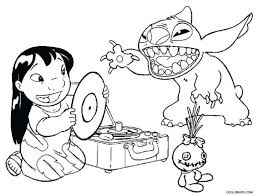 Printable Stitch Coloring Pages Ohana Disney For Kids Summer Adults