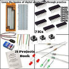 digital electronic kit diy logic gate ics circuit book image is loading digital electronic kit diy logic gate ics