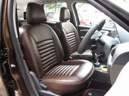 brown colour seat covers to duster with