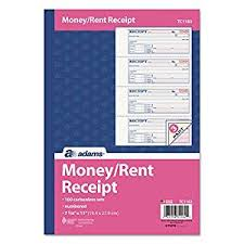 Amazon Com Adams R Carbonless 3 Part Money Rent Receipt Book 7 5