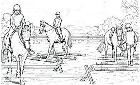 horses jumping coloring pages. Simple Horses Horse Racing Coloring Pages Jumping  Backgrounds Throughout  Intended Horses O