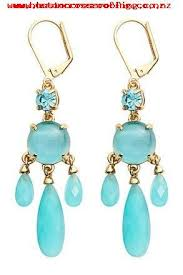 womens kate spade turquoise gold new york crystal chandelier earrings 21182499 2018