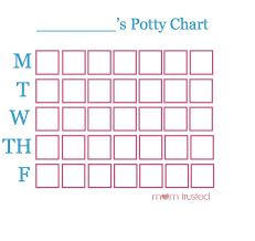 Potty Training Free Potty Training Chart Download