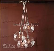 4 light edison glass globe chandelier pendant lamp hanging regarding idea 10