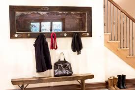 Door Hanging Coat Rack Wood Door Coat Rack with Antique Mirror and 100 Vintage Knobs 13