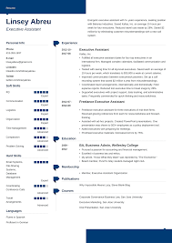Modern Executive Assistant Resume Executive Assistant Resume Sample Complete Guide 20