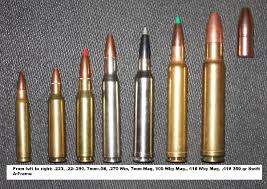 Risanceco Rifle Bullet Chart