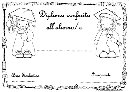 Diplomi Per Bambini Da Stampare Migliori Pagine Da Colorare