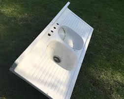 54 x 24 single bowl double drainboard farmhouse