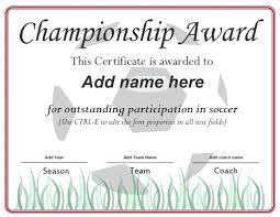 soccer awards templates template soccer award certificate template