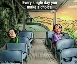 Image result for cartoon people on bus about choice