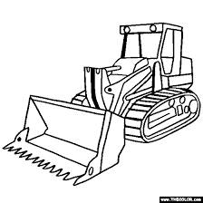 Small Picture Tracked Loader Construction Vehicle Coloring Page
