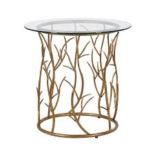 gold vine circular side table contemporary gold side tables french style tables