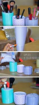 Use Jars To Tidy Makeup | Easy Spring Cleaning Tips And Tricks | DIY Teen  Girl