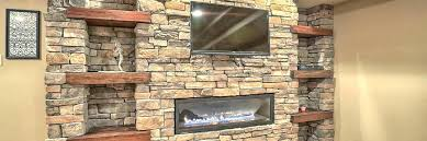 stone gas fireplace incredible stones transform a wall intended for 21