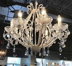 off white clear crystal chandelier