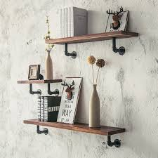 notes manual measuring please allow 1 5mm error thank you more detailed photos retro vintage industrial wood metal wall shelf display