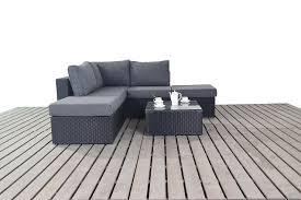 small corner furniture. port royal prestige small right hand facing corner sofa set black amazoncouk garden u0026 outdoors furniture