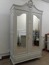 furniture antique white armoire wardrobe on cozy kahrs flooring