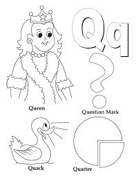 Small Picture Learning Preschool Kids Letter Q Coloring Page Learning Preschool