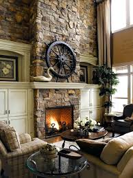 cool stone fireplace ideas cur image selection also with nice brick wall wood burner