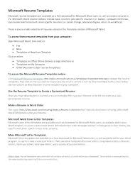Microsoft Letters Templates Free Cover Letter Template For Resume Microsoft Word