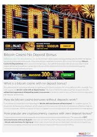 Learn how to use bitcoin and earn free bonus cryptocurrencies with new accounts. Bitcoin Casino No Deposit Bonus