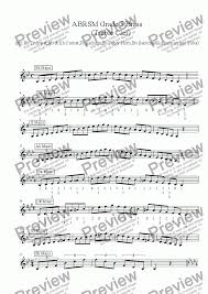Brass Treble Clef Grade 5 Scales Arpeggios With Some Fingerings Abrsm Format For Solo Instrument Trumpet In Bb By Ray Thompson Sheet