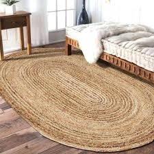 oval indoor area rug natural jute gray 7 ft x 9 australia n