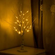 Battery Operated 45cm 60cm <b>LED White Birch</b> Tree <b>night Light</b> ...