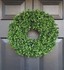 wreaths for front doorsArtificial Boxwood Wreath 16 inch Front Door Wreaths Wedding
