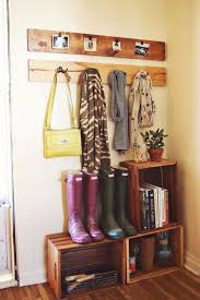 Wood Crate Shoes Coats And Gardening Supplies