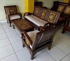 teak wood wooden sofa set furniture