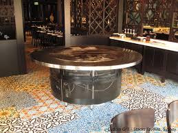 beech ovens custom round grill in stacks taverna sydney