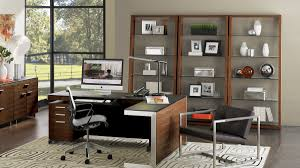 living room with office. The Eileen Collection By BDI Versatile Storage With Sturdy Construction Living Room Office