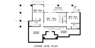 Home Plan The Riva Ridge by Donald A  Gardner ArchitectsBASEMENT