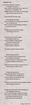 annabel lee essay annabel lee analysis k harger annabel lee the  annabel lee poem by edgar allan poe poem hunter annabel lee essay
