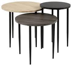 3 piece round nesting coffee table set