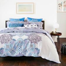 sky bedding oriana 230 thread count 100 cotton 2 x euro shams periwinkle blue