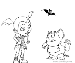 This coloring page is perfect for coloring online from your desktop, tablet or mobile device or printing out for later. Gregoria And Vampirina Coloring Pages Xcolorings Com