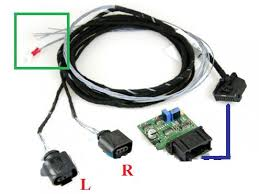 drl wiring help needed page 3 so l and r is the drl s the blue line denote the module cabling link up in the green box you can see 5 wires my assumptions are positive ground